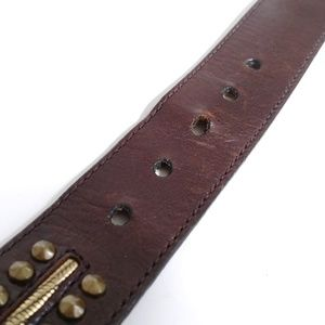 Michael Kors Accessories - Michael Kors Brown Brass Studded Belt